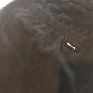 RVCA black 4 pocket shorts